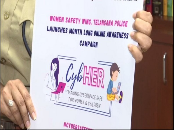 Telangana Police launched a month-long online awareness campaign 'CybHER' on Wednesday. Photo/ANI