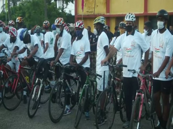 cycle rally organised by organised by Chennai Port Trust