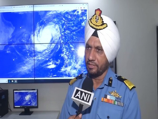 DIG Coast Guard, Iqbal Singh Chauhan speaking to ANI in Porbandar, Gujarat on Thursday. Photo/ANI