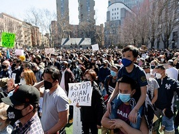 A rally against hate to end discrimination against Asian Americans and Pacific Islanders in New York City, U.S., March 21. (Photo Credit: Reuters)