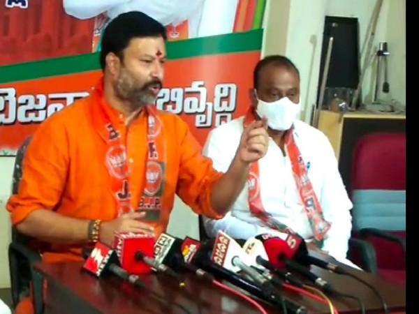 Andhra Pradesh Bharatiya Janata Party spokespeAndhra Pradesh Bharatiya Janata Party spokesperson Bhanu Prakash Reddy.