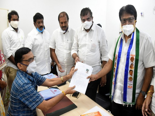 Penmatsa Suryanarayana Raju files for nomination as MLC candidate in AP legislative council