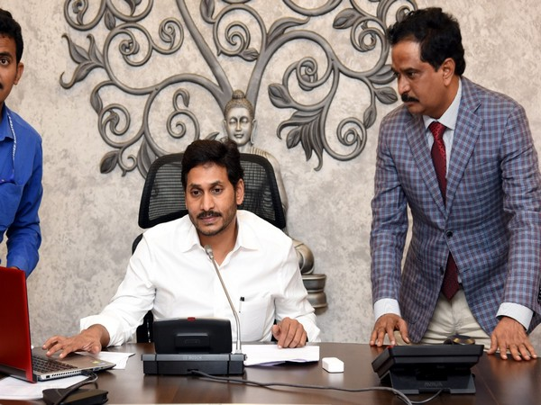 Andhra Pradesh Chief Minister YS Jagan Mohan Reddy inaugurated public helpline to tackle corruption on Tuesday. Photo/ANI