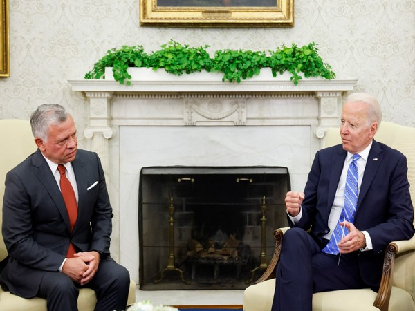 US President Joe Biden and Jordan's King Abdullah