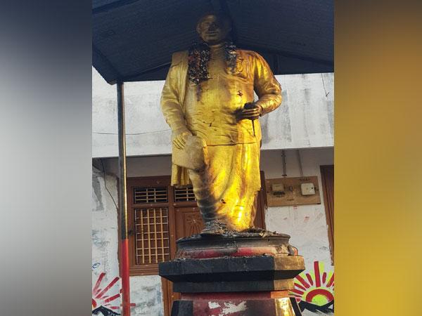 Statue of DMK founder Annadurai in Madhavacheri. (Photo/ANI)