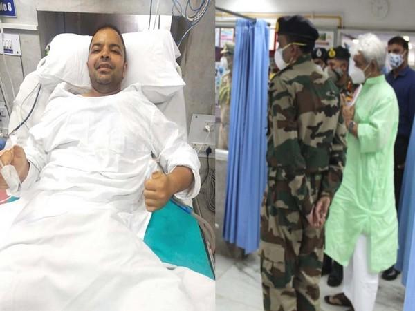 J-K LG visiting Deputy Commandant Rahul Mathur
