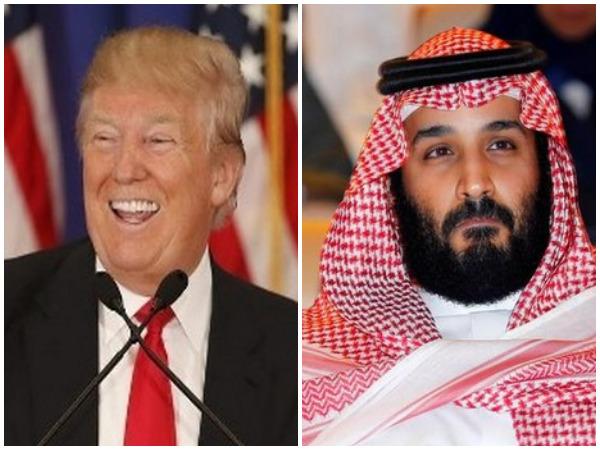 US President Donald Trump (L), Saudi Crown Prince Mohammed bin Salman (R) (file photos)