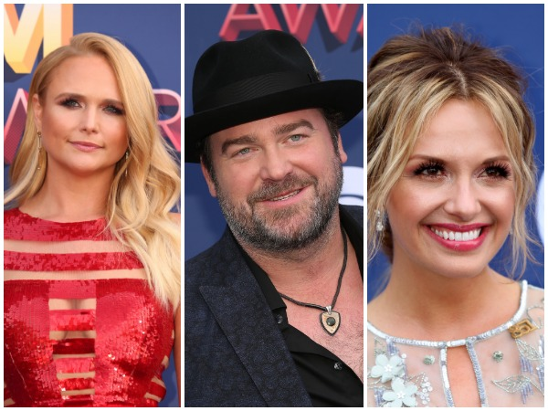 Miranda Lambert (left), Lee Brice (centre) and Carly Pearce (right) were among the evening's early winners.