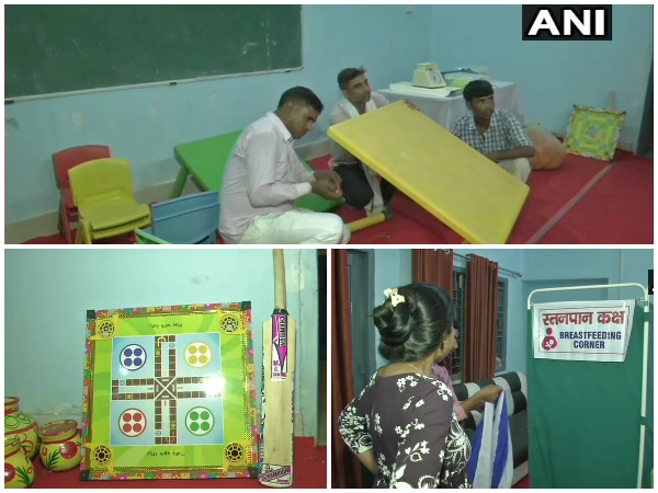 A polling booth in Bihar's Patna city is getting decked up with facilities like creche, breastfeeding room and so on.