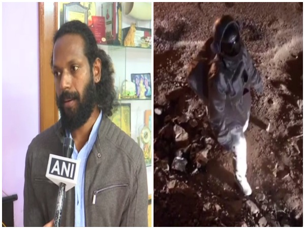 Baadal Nanjundaswamy who shared a video of walking on the moon. Photo/ANI