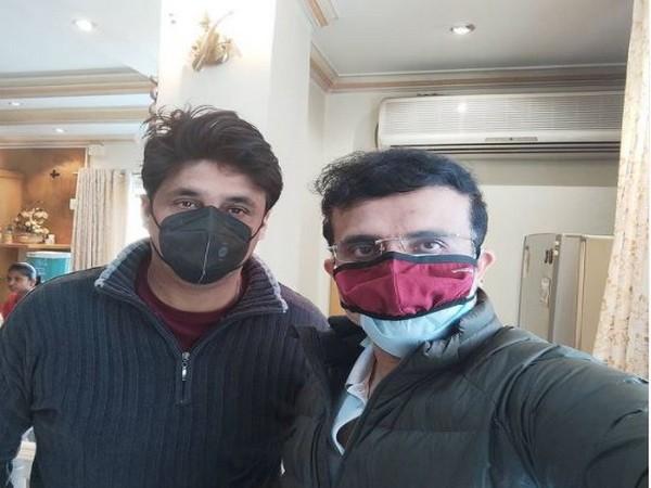Sourav Ganguly with Joydeep (Photo/ Sourav Ganguly Instagram)