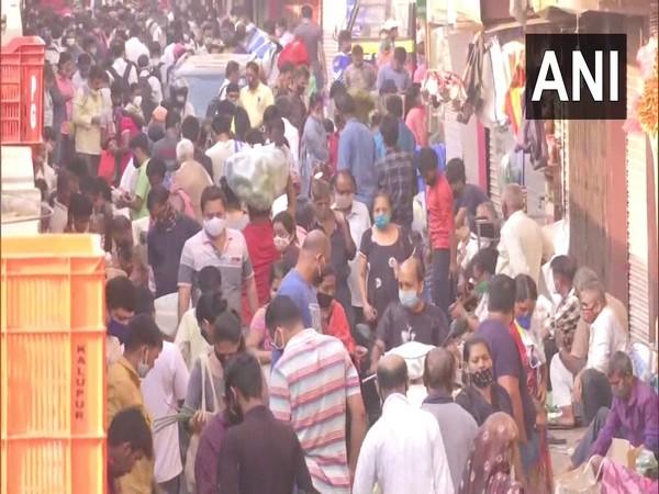 Visual of Dadar vegetable market (Photo/ANI)