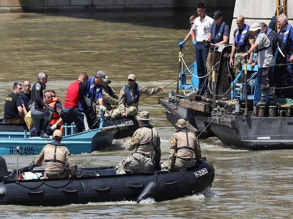 Rescuers at the Danube River on Jun 3 (Photo/Reuters)