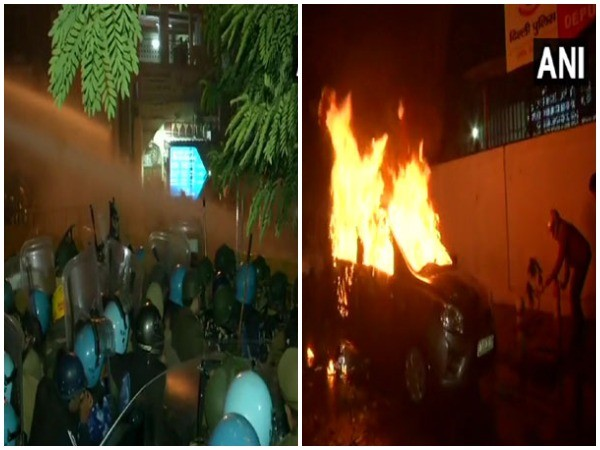 Protest turned violent in Daryaganj, New Delhi, on Friday. Photo/ANI