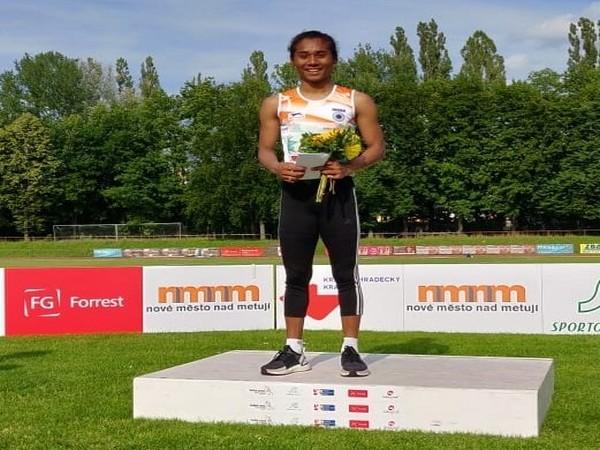 Indian sprinter Hima Das (Photo/ Hima Mon Jai Twitter)