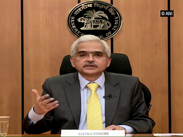 RBI Governor Shaktikanta Das in Mumbai on Thursday. [Photo/ANI]