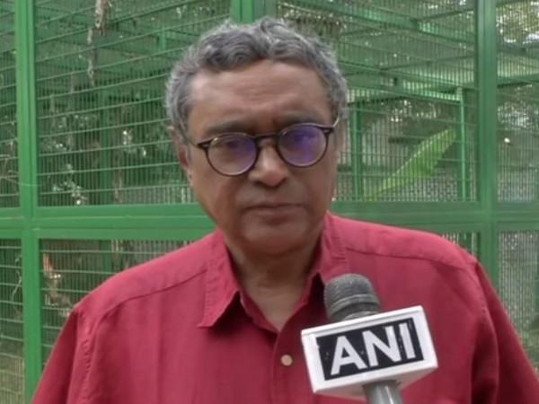 Rajya Sabha MP Swapan Dasgupta talking to ANI in New Delhi on Thursday