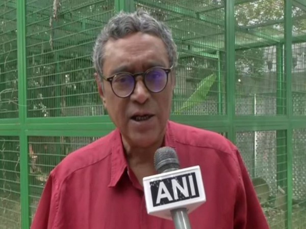 Rajya Sabha MP Swapan Dasgupta talking to ANI in New Delhi on Thursday. (Photo/ANI)
