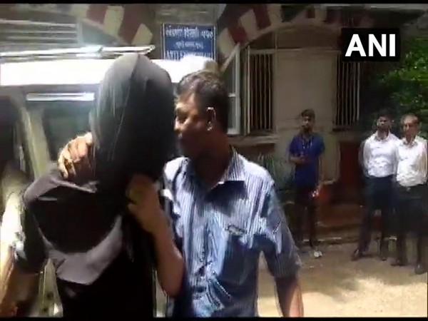 Dawood Ibrahim's nephew Rizwan Kaskar outside the office of Anti-Extortion Cell in Mumbai on Thursday. Photo/ANI