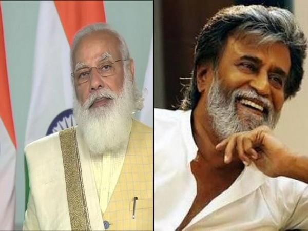 Prime Minister Narendra Modi and megastar Rajnikanth