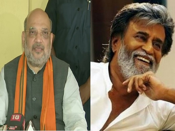 Union Home MinisterAmit Shah and megastar Rajnikanth. (File Photo)