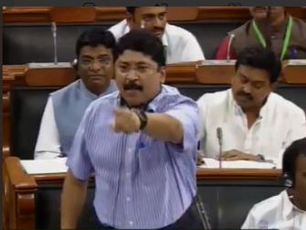 Dayanidhi Maran speaking in the Lok Sabha on Tuesday