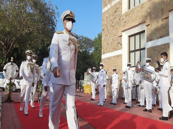 Visual from command hand over cermony at the Command Post of Headquarters, Western Naval Command, Mumbai.