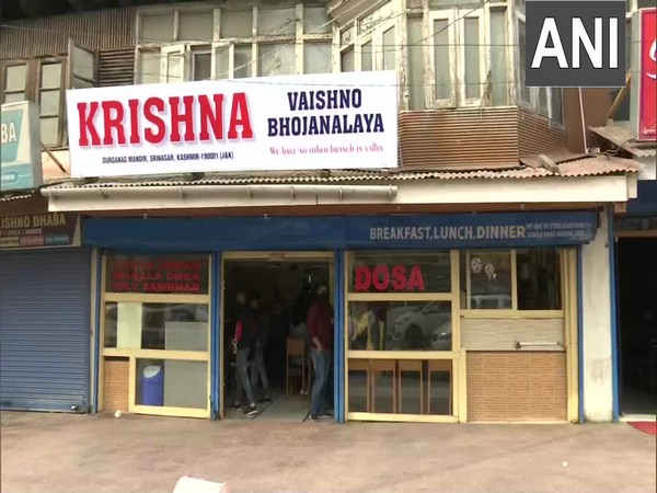 Krishna Dhaba in Srinagar, which reopened on Tuesday months after a terrorist attack. (Photo/ANI)