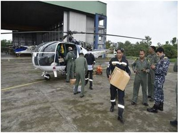 Indian Coast Guard engaged in refief and rescue operation (Photo/ANI)
