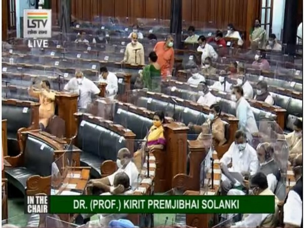 Visual of Lok Sabha (Photo/ANI)