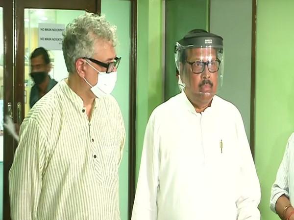 TMC's Derek O'Brien and Sukhendu Shekhar Roy on Monday.