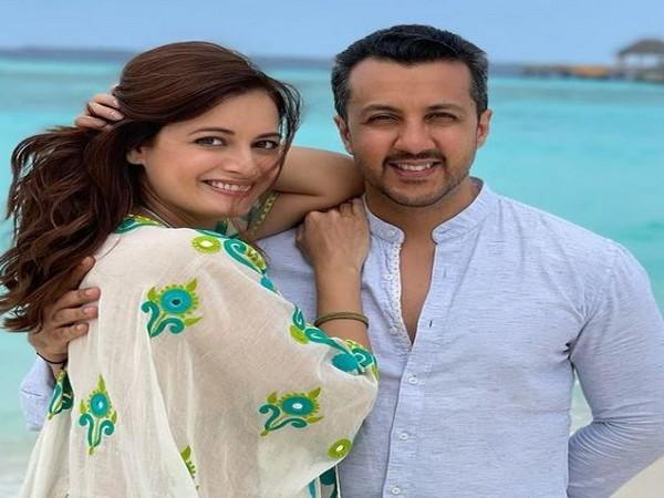 Dia Mirza with husband Vaibhav Rekhi (Image Source: Instagram)