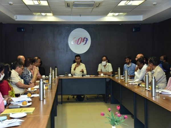 Goa Chief Minister Dr Pramod Sawant at the meeting