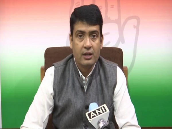 Congress MLC Deepak Kumar speaking to ANI on Saturday.