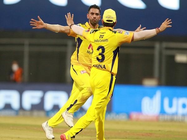 CSK players Suresh Raina and Deepak Chahar celebrating  a wicket (Image: BCCI/IPL)