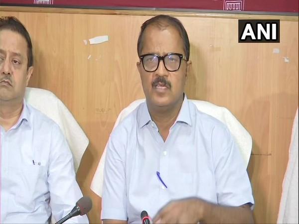 Bihar Chief Secretary Deepak Kumar briefing media persons in Patna on Monday. Photo/ANI.