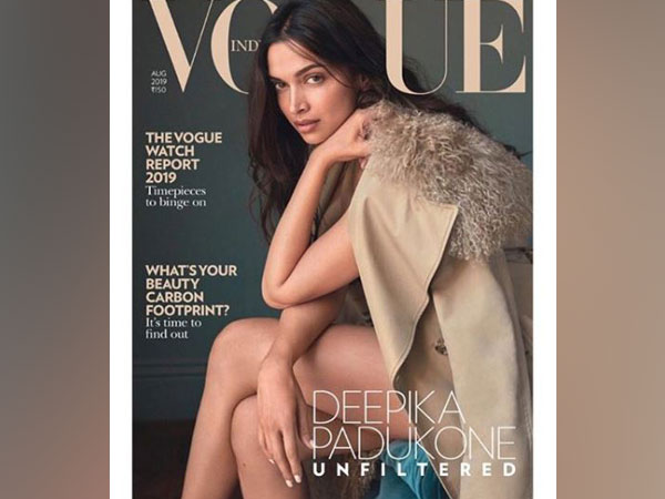 Deepika Padukone as the Vogue India magazine cover girl for August issue (Image courtesy: Instagram)