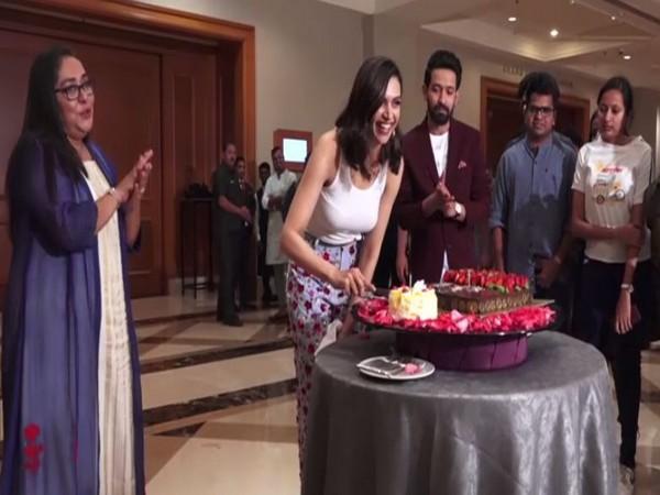 Deepika Padukone during her pre-birthday celebrations in Mumbai (Photo/ANI)