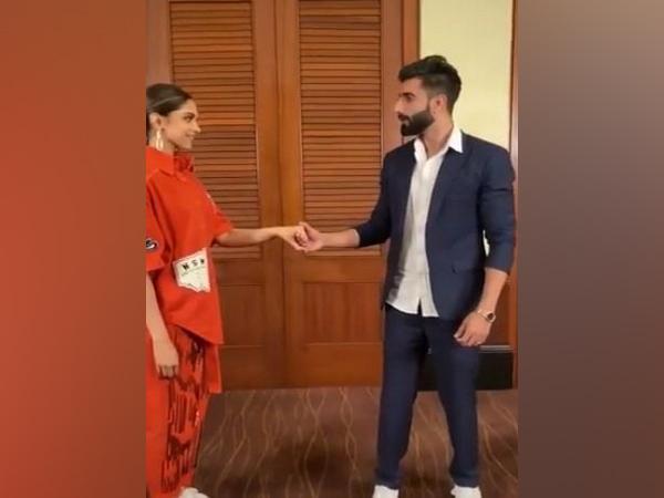 Actor Deepika Padukone with TikTok celebrity Manav chhabra (Image Source: TikTok)
