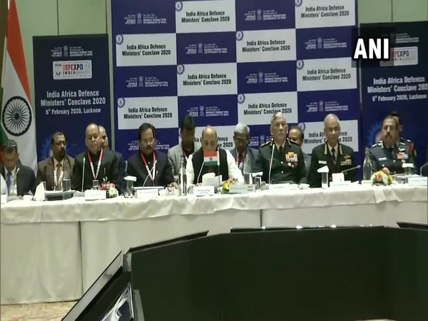A visual from India-Africa Defence Ministers' Conclave 2020.