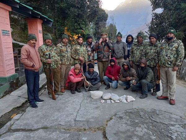 The arrested poachers who were sent to judicial custody.