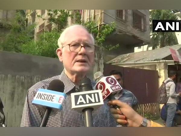 Fomer Assam DGP Harekrishna Deka talking to media persons in Assam on Tuesday