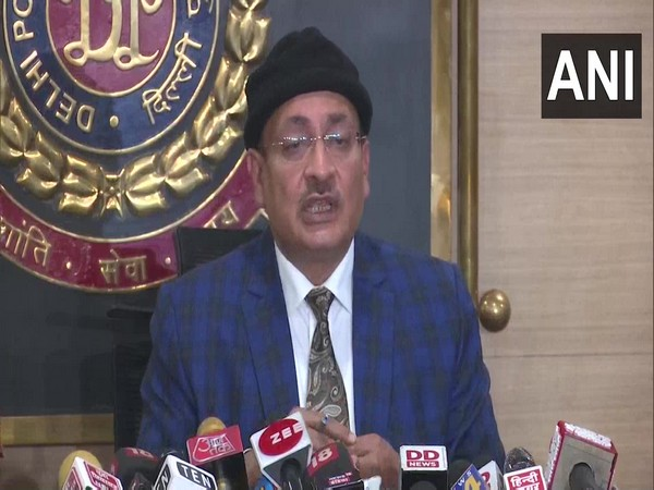 : Dependra Pathak, Special CP, Intelligence, Delhi Police during a press conference on Sunday. (Photo/ANI)