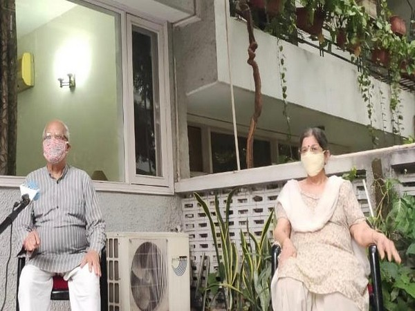 Two residents of the colony speaking to ANI in New Delhi on Sunday. Photo/ANI