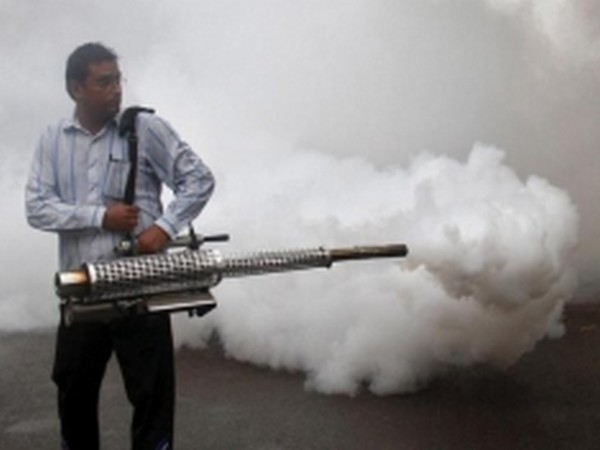 A man fogging an area to prevent breeding of mosquitoes. (File photo)