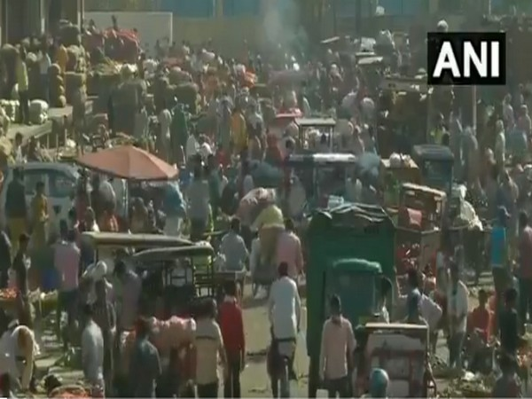 Visuals from the Ghazipur market (Photo/ANI)