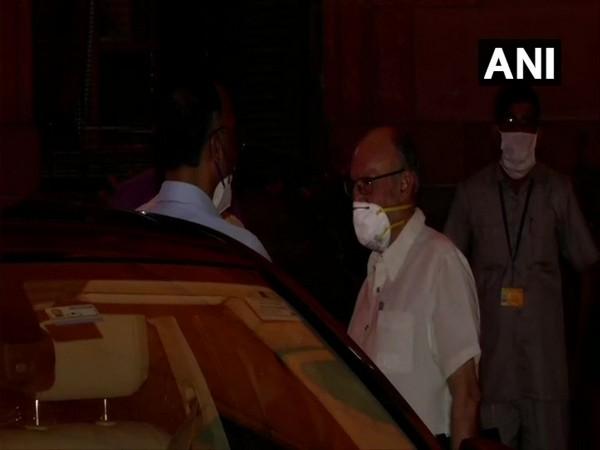 Delhi Lieutenant Governor Anil Baijal leaving MHA after meeting.