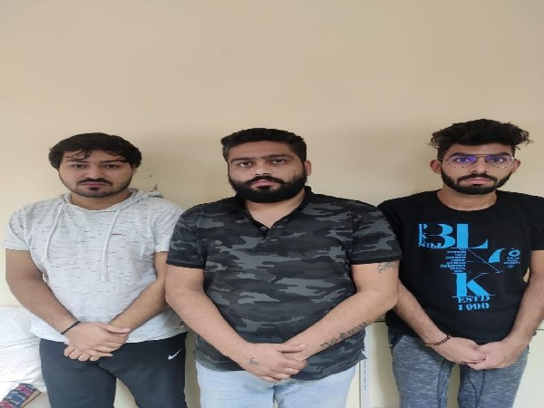 The three accused who duped actress Isha Sharvani, amongst others.