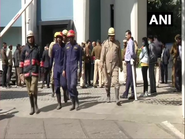 Fire tenders at The Park Hotel on Sunday (Photo/ANI)