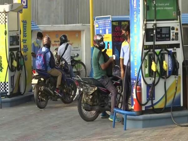 Petrol pump in Delhi's Gazipur. (Photo/ANI)